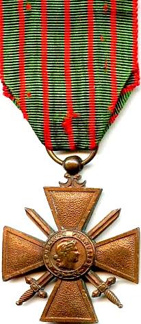 Крест Croix de Guerre