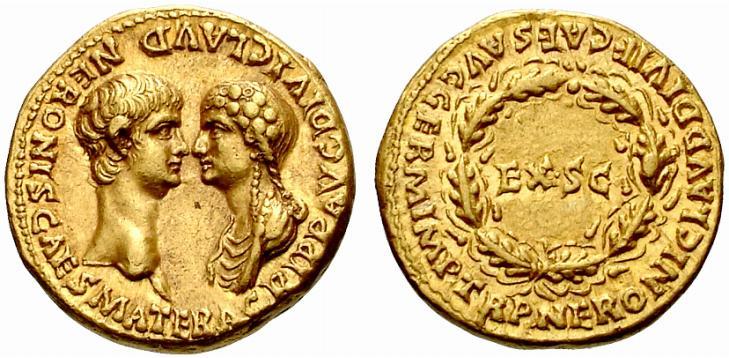 Монета с изображением Нерона